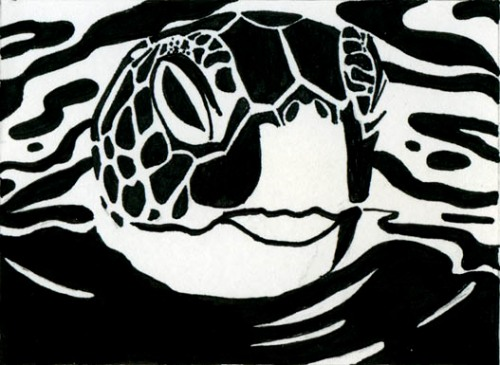 Stark Reality 1, art to help Gulf Animals ©2010 alecia goodman to present
