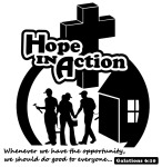 black and white vector art for Hope In Action