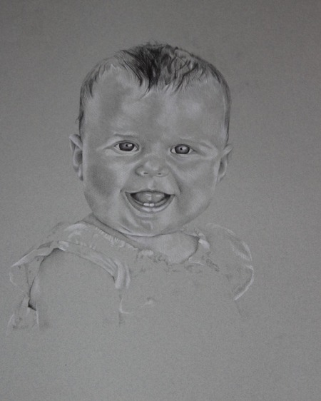 baby girl drawing