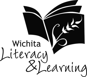 Wichita Literacy & Learning, Logo Design Final Black & White ©2015 alecia goodman to present