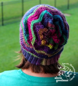 Chevron Slouch, pattern by Sincerely Pam ©2015 alecia goodman to present