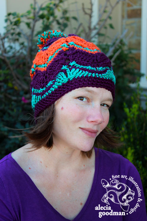 Chevron Slouch Crochet Beanie