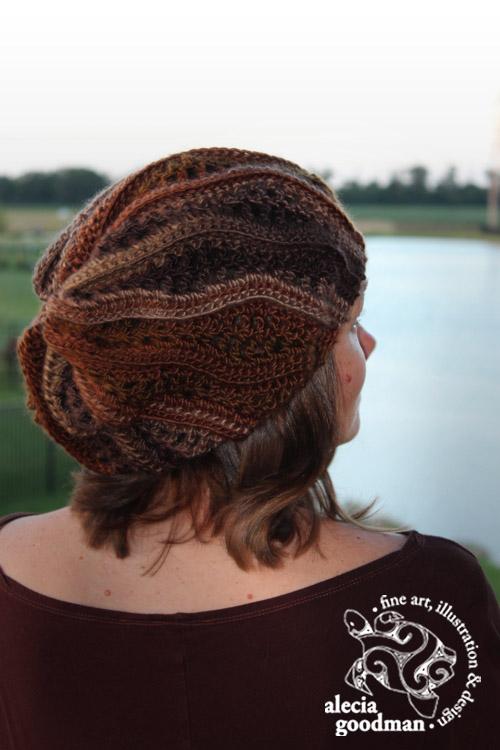 Chelsea Waves Slouch crochet hat