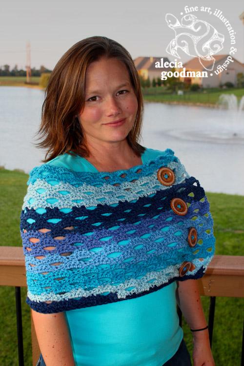 crochet convertible scarf