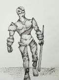 Ink drawing Golem