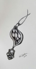 Ink drawing amulet