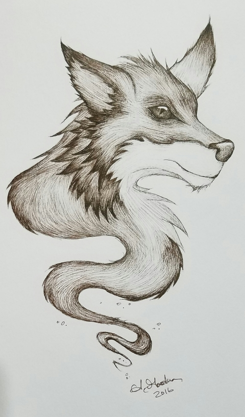 Ink drawing Spirit Animal