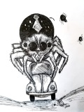 inktober giant spider drawing