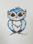 Inktober Day 9 Screech owl ink drawing