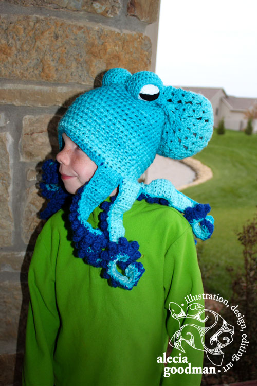 octopus crocheted hat