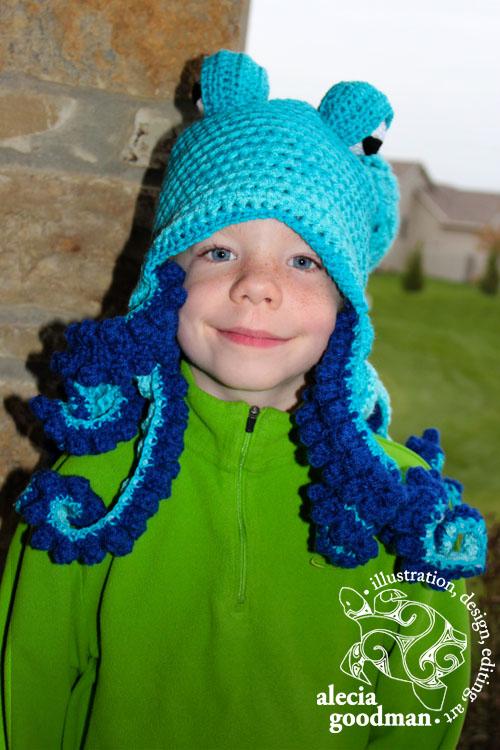 octopus crocheted hat