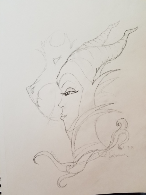Dark fairy sketch by Alecia Goodman