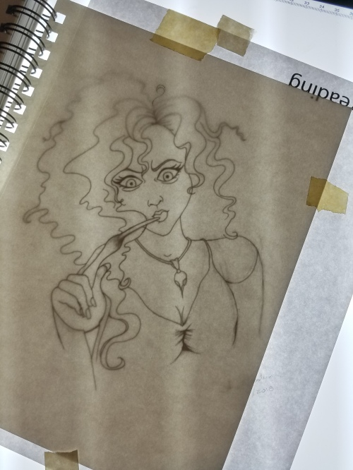 Sketch of Bellatrix 2018 by alecia goodman