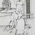2018 Inktober Day 11 Cruel drawing by alecia goodman