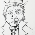 2018 Inktober Day 29 Double ink drawing of Doctor Jekyll and Mister Hyde by alecia goodman to present