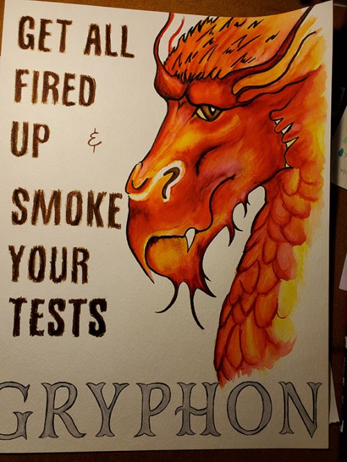 State Assessment Motivational Dragon Poster by alecia goodman 2019