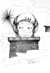 Child chimney sweep ink drawing by Alecia Goodman