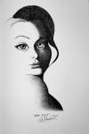 High Contrast shadows portrait of a woman by Alecia Goodman