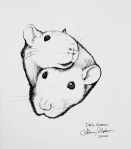 Inktober Day 6 Rodent ink drawing by alecia goodman 2020 to present